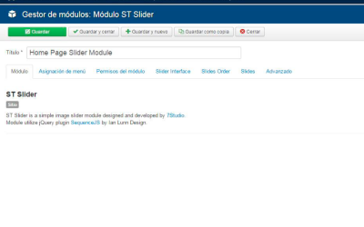 Módulo ST Slider