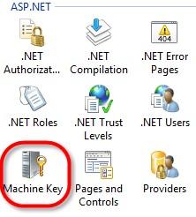 Construir la línea de MachineKey usando PowerShell
